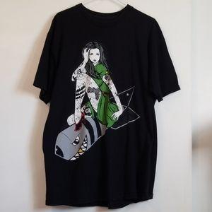 Fatal Clothing Hot Topic Tattoo Woman Shark Shirt